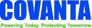 Covanta Complete Logo With Tag Blue and Green